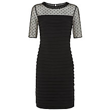 Buy Precis Petite Pleated Dress, Black Online at johnlewis.com