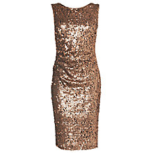 Buy Phase Eight Angele Sequin Dress, Bronze Online at johnlewis.com