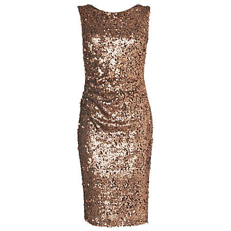 Buy Phase Eight Angele Sequin Dress, Bronze Online at johnlewis.com