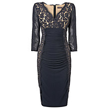 Buy Phase Eight Marissa Lace Dress, Charcoal Online at johnlewis.com