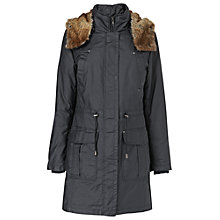 Buy Phase Eight Diana Waxed Parka Coat, Navy Online at johnlewis.com
