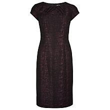 Buy Precis Petite Shift Dress, Berry / Black Online at johnlewis.com