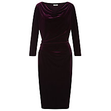 Buy Precis Petite Velvet Dress, Plum Online at johnlewis.com