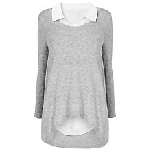 Buy Phase Eight Susie Layer Shirt Jumper, Grey Online at johnlewis.com