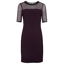Buy Precis Petite Pleated Dress, Plum Online at johnlewis.com