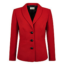 Buy Precis Petite Herringbone Boucle Jacket, Scarlet Online at johnlewis.com