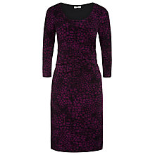 Buy Precis Petite Ruched Detail Printed Shift Dress, Multi Dark Purple Online at johnlewis.com