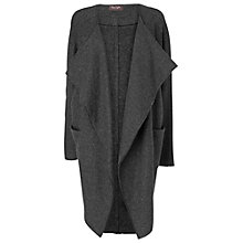 Buy Phase Eight Carys Draped Wool Blend Coat, Charcoal Online at johnlewis.com