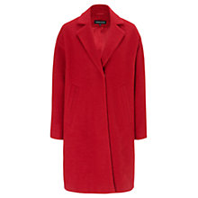 Buy Warehouse Bouclé Wool Blend Coat, Bright Red Online at johnlewis.com