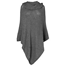 Buy Phase Eight Cowl Neck Poncho, Grey Online at johnlewis.com