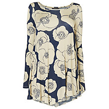 Buy Phase Eight Printed Long Sleeve Swing Top, Grey / Stone Online at johnlewis.com