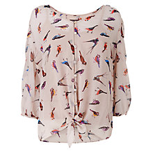 Buy Phase Eight Peggy Bird Blouse, Ivory / Multi Online at johnlewis.com
