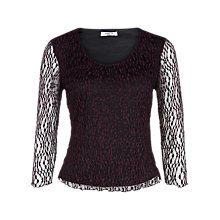 Buy Precis Petite Lace Top, Plum / Black Online at johnlewis.com