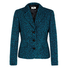 Buy Precis Petite Boucle Jacket, Dark Teal Online at johnlewis.com