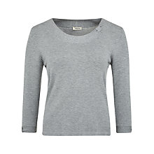 Buy Precis Petite Bow Neck Jumper, Silver Online at johnlewis.com
