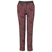 Buy Phase Eight Trina Jacquard Trousers, Black/Red Online at johnlewis.com