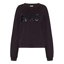 Buy Whistles Black Logo Sweatshirt, Black Online at johnlewis.com