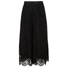 Buy Whistles All-Over Lace Culottes, Black Online at johnlewis.com
