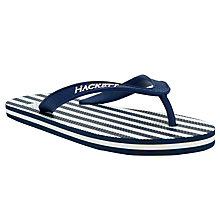 Buy Hackett London Stripe Flip Flops Online at johnlewis.com