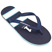 Buy Hackett London No.1 Flip Flops, Blue Online at johnlewis.com