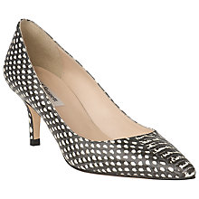 Buy L.K. Bennett Florisa Court Shoes, Black/ White Online at johnlewis.com