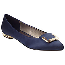 Buy COLLECTION by John Lewis Justine Heeled Pumps, Navy Online at johnlewis.com