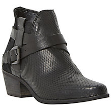 Buy Dune Peeps Reptile Mid Stacked Cone Heel Ankle Boots Online at johnlewis.com