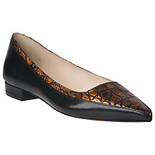 Buy L.K. Bennett Agatha Leather Pointed Pumps, Rose Gold Online at johnlewis.com