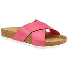 Buy John Lewis Watermelon Slip On Cross Strap Sandals Online at johnlewis.com