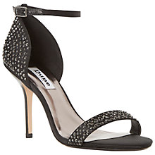 Buy Dune Hasmin Satin Jewel Detail High Stiletto Heel Sandals Online at johnlewis.com