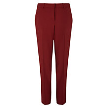 Buy Jigsaw City Stretch Cigarette Trousers, Deep Red Online at johnlewis.com