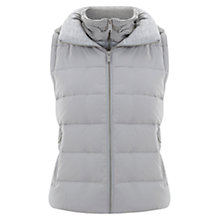 Buy Mint Velvet Down Filled Knitted Back Gilet, Grey Online at johnlewis.com