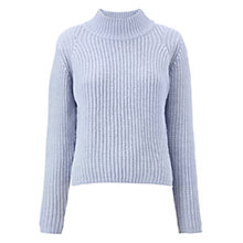 Buy Whistles Fashioned Rib Wool Jumper, Lilac Online at johnlewis.com