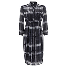 Buy Mint Velvet Kacie Print Shirt Dress, Multi Grey Online at johnlewis.com