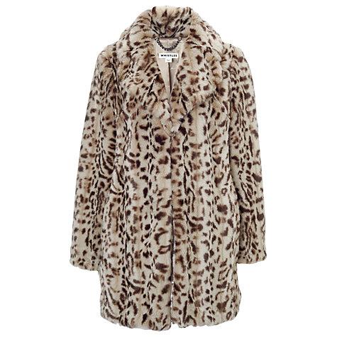 Buy Whistles Kumiko Faux Fur Coat Online at johnlewis.com