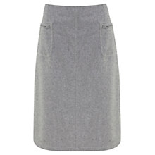 Buy Mint Velvet Wool Blend Flannel A-Line Skirt, Grey Online at johnlewis.com