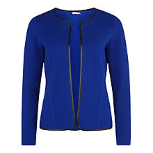 Buy Planet Statement Trim Cardigan, Cobalt Online at johnlewis.com