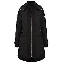 Buy Whistles Elliot Padded Parka, Black Online at johnlewis.com