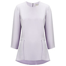 Buy Whistles Edie Peplum Top, Lilac Online at johnlewis.com