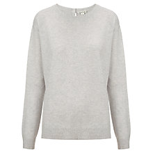 Buy Whistles Popperback Cashmere Jumper, Pale Grey Online at johnlewis.com
