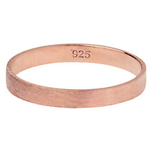 Buy Orelia Fine Brushed Plain Band Ring Online at johnlewis.com