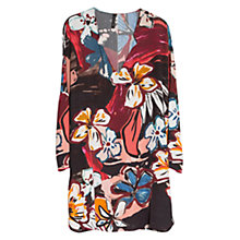 Buy Mango Flowy Printed Dress, Black Online at johnlewis.com