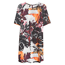Buy Mango Printed Shift Dress, Dark Red Online at johnlewis.com