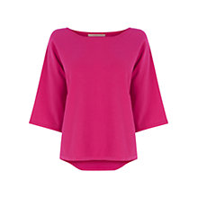 Buy Wishbone Betty Plain Knitted Top, Powder Pink Online at johnlewis.com