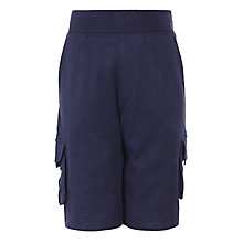Buy John Lewis Boy Cargo Shorts, Navy Online at johnlewis.com