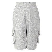 Buy John Lewis Boy Cargo Shorts, Grey Marl Online at johnlewis.com