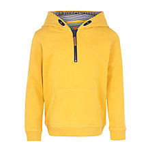 Buy John Lewis Boy Pullover Zip Hoodie, Yellow Online at johnlewis.com