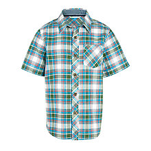 Buy John Lewis Boy Check Oxford Shirt, Green/Multi Online at johnlewis.com