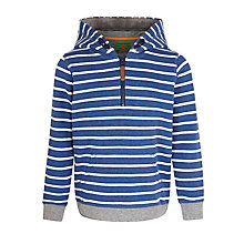Buy John Lewis Boy Stripe Hooded Sweatshirt, Navy/White Online at johnlewis.com