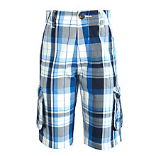 Buy John Lewis Boy Check Cargo Shorts Online at johnlewis.com